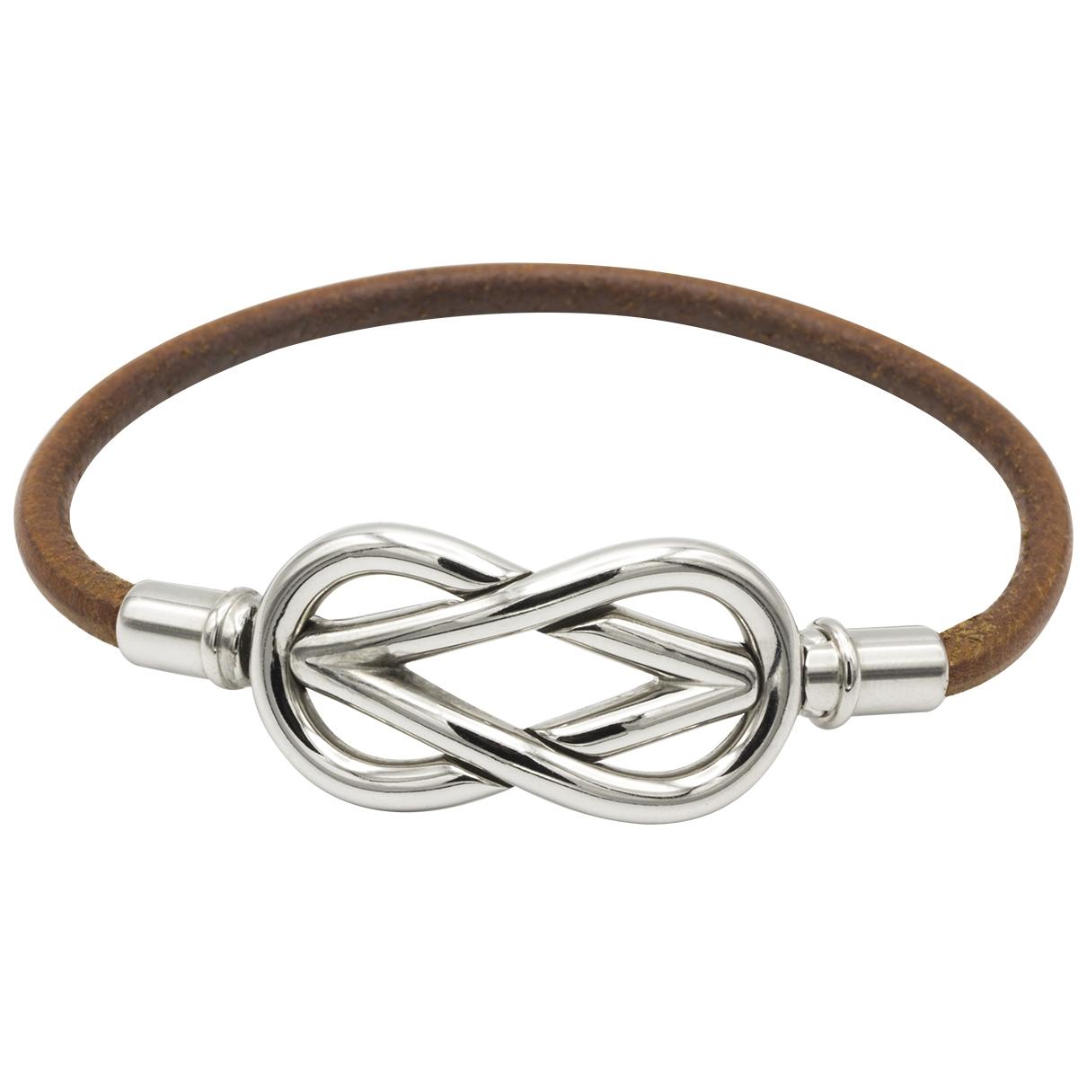Hermes Atame Armband in  Braun Leder