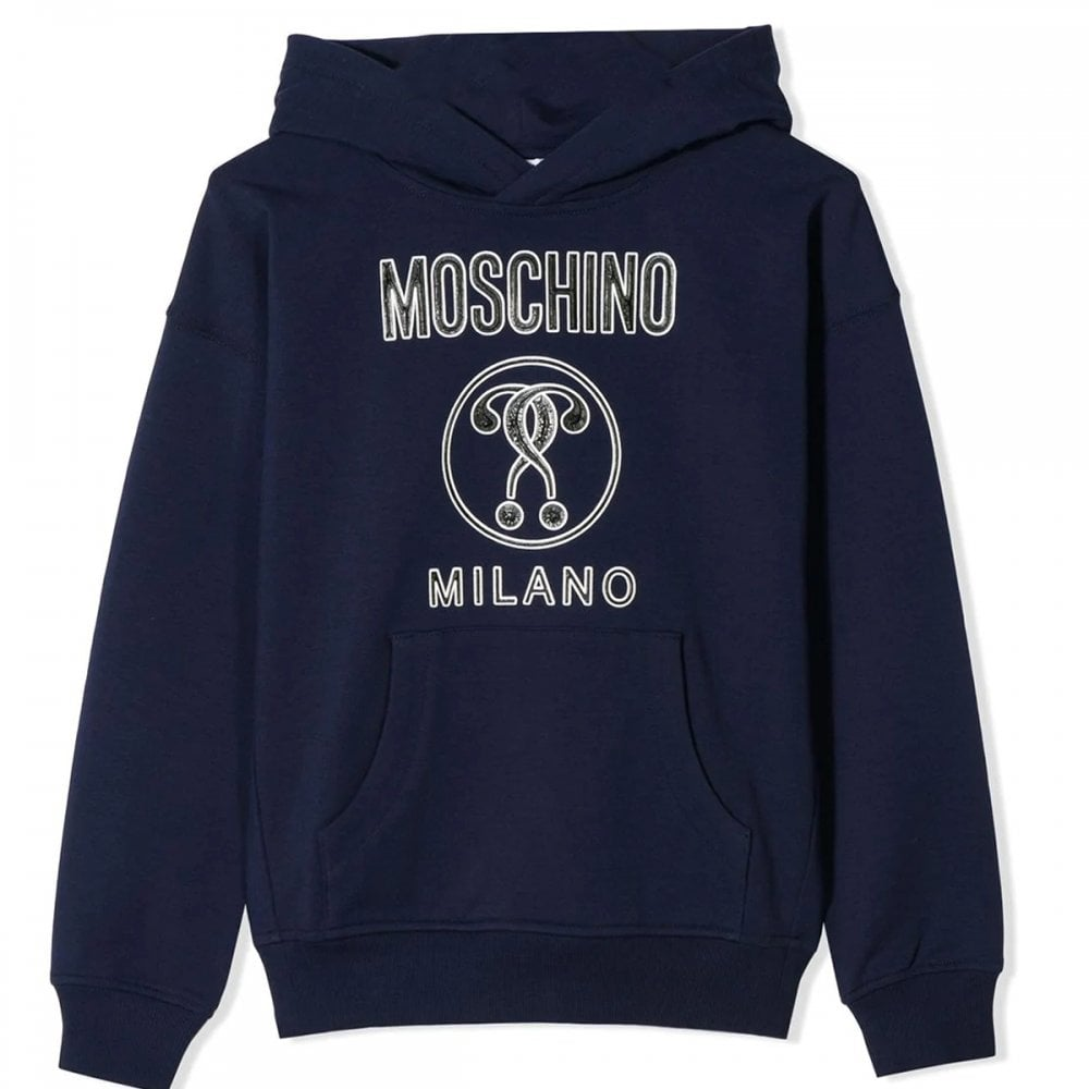 Moschino Hoodie Colour: NAVY, Size: 12 YEARS