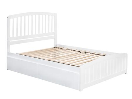Richmond Collection AR8836112 Full Size Platform Bed with 2 Urban Bed Drawers  Matching Footboard  Hardwood Slat Kit and Eco-Friendly Solid Hardwood
