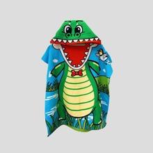 Kinder Badetuch mit Karikatur Dinosaurier Design