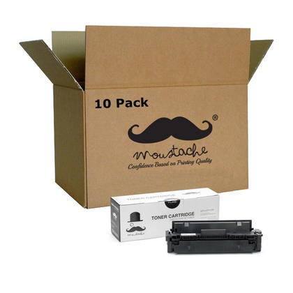 Compatible HP 410X CF410X Black Toner Cartridge High Yield - Moustache - 10/Pack