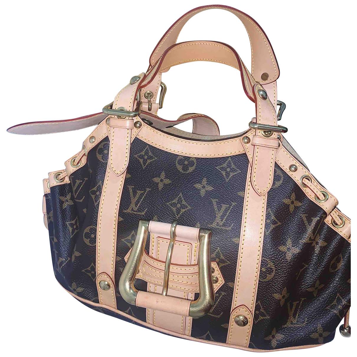 Louis Vuitton Theda Handtasche in  Braun Leinen