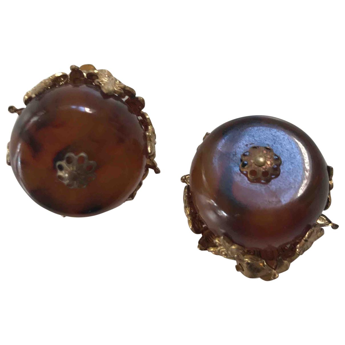 - Boucles doreilles Ambre pour femme en metal - marron