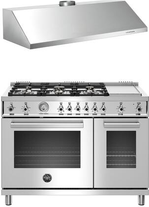 2 Piece Kitchen Appliance Package with PROF486GGASXT 48