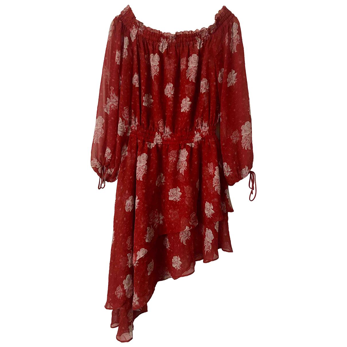 The Kooples - Robe Spring Summer 2019 pour femme en soie - rouge