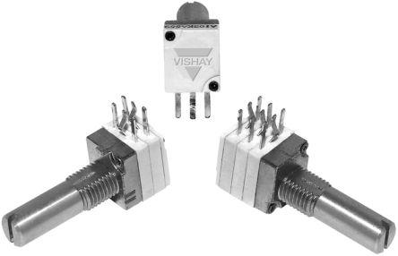 Vishay 1 Gang Rotary Conductive Plastic Potentiometer with an 6 mm Dia. Shaft - 1kΩ, ±20%, 0.05W Power Rating,