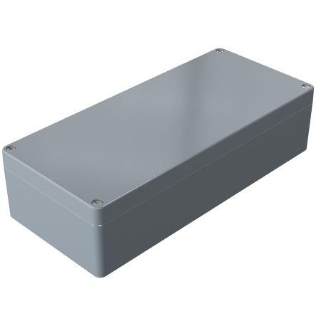 Rose Aluminium Standard, Grey Die Cast Aluminium Enclosure, IP66, 360 x 160 x 90mm Lloyds Register, Maritime Register,