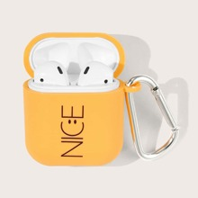 1pc Letter Graphic AirPods Case