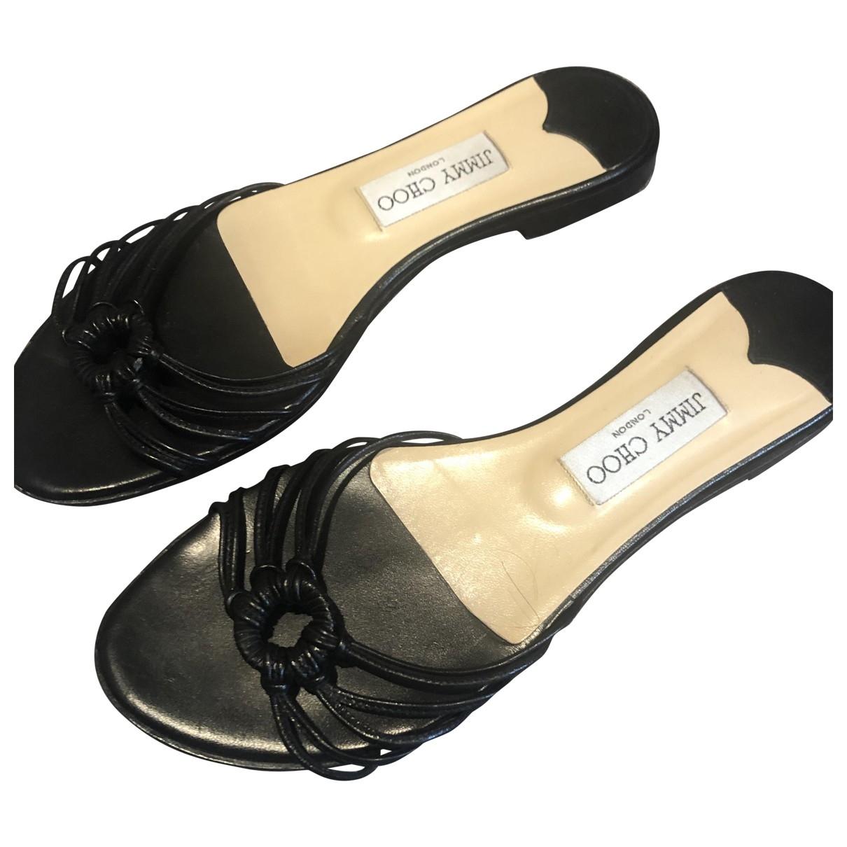 Jimmy Choo \N Black Leather Sandals for Women 39 EU