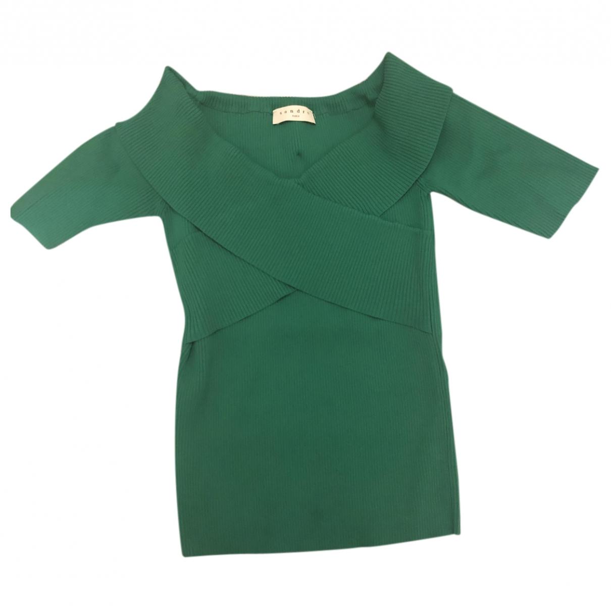 Sandro - Pull Spring Summer 2019 pour femme en coton - vert