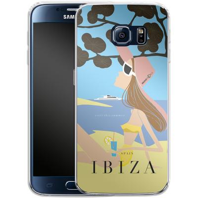 Samsung Galaxy S6 Silikon Handyhuelle - IBIZA TRAVEL POSTER von IRMA