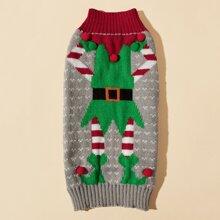 Christmas Clown Pattern Dog Sweater