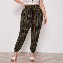 Pantalones tribales de cintura elastica