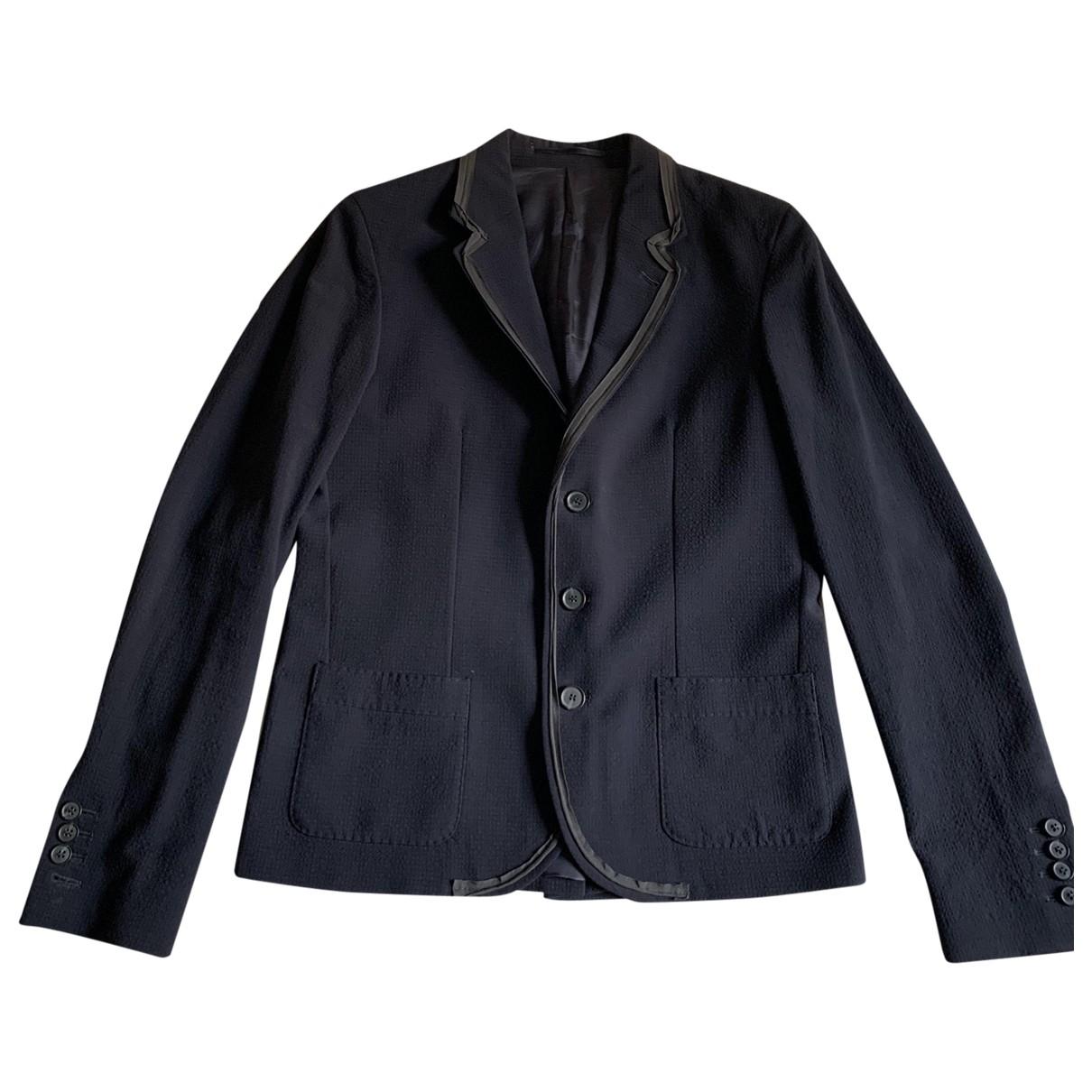Lanvin For H&m - Vestes.Blousons   pour homme en laine - bleu