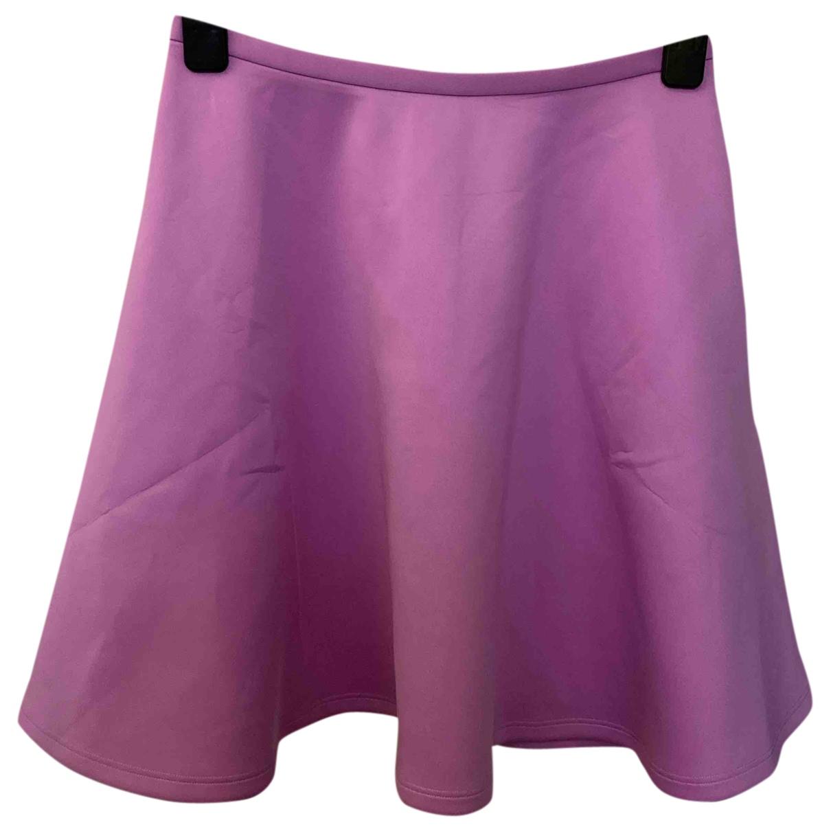 Ted Baker - Jupe   pour femme en coton - elasthane - violet