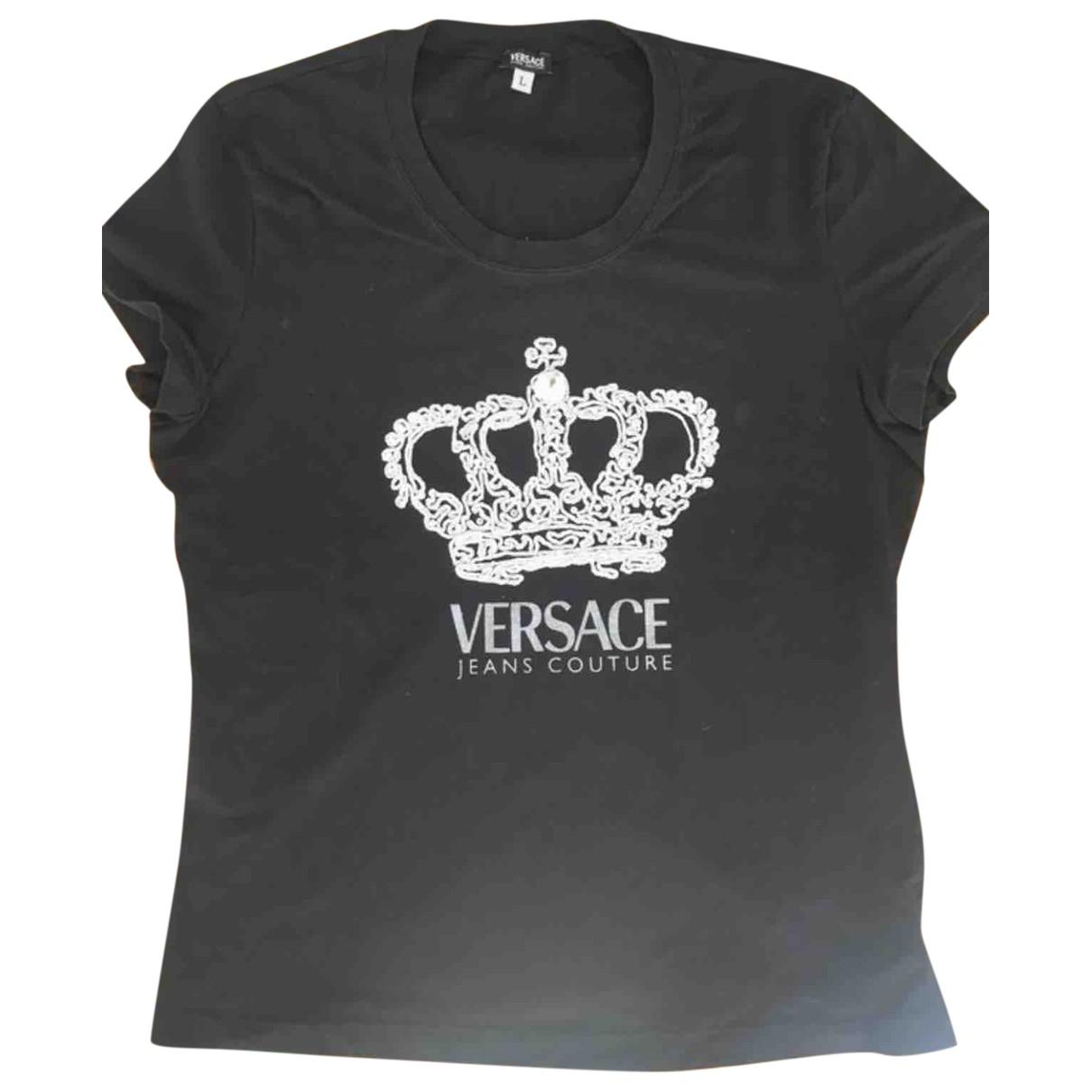 Versace Jeans \N Top in  Schwarz Baumwolle
