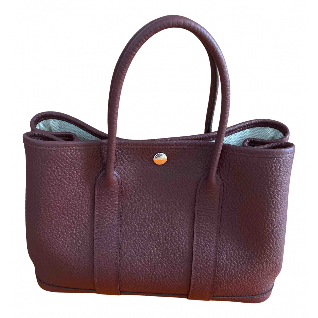 Hermès Garden Party Burgundy Leather handbag for Women N