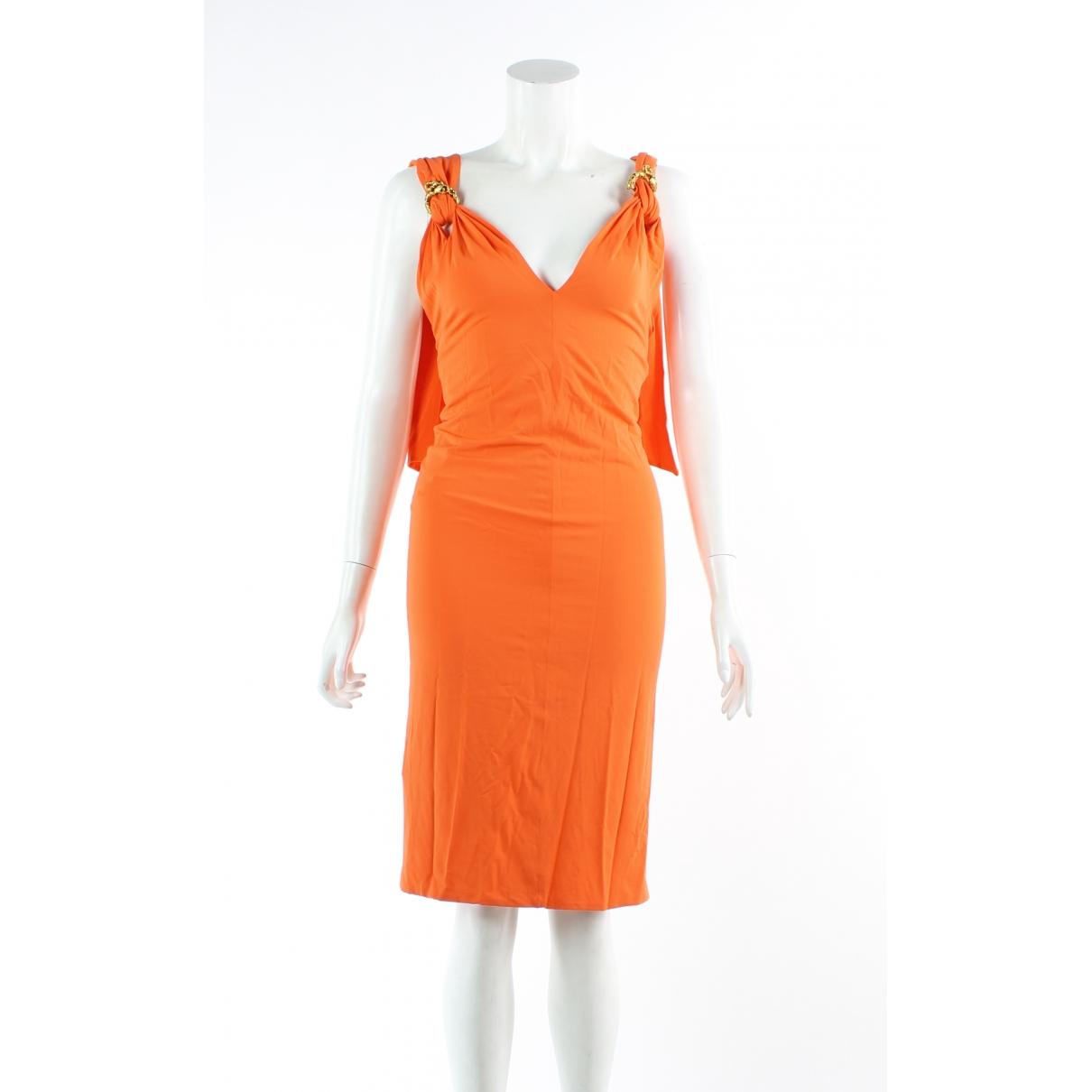 Roberto Cavalli \N Kleid in  Orange Viskose