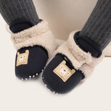 Baby Boys Cartoon Decor Fluffy Boots