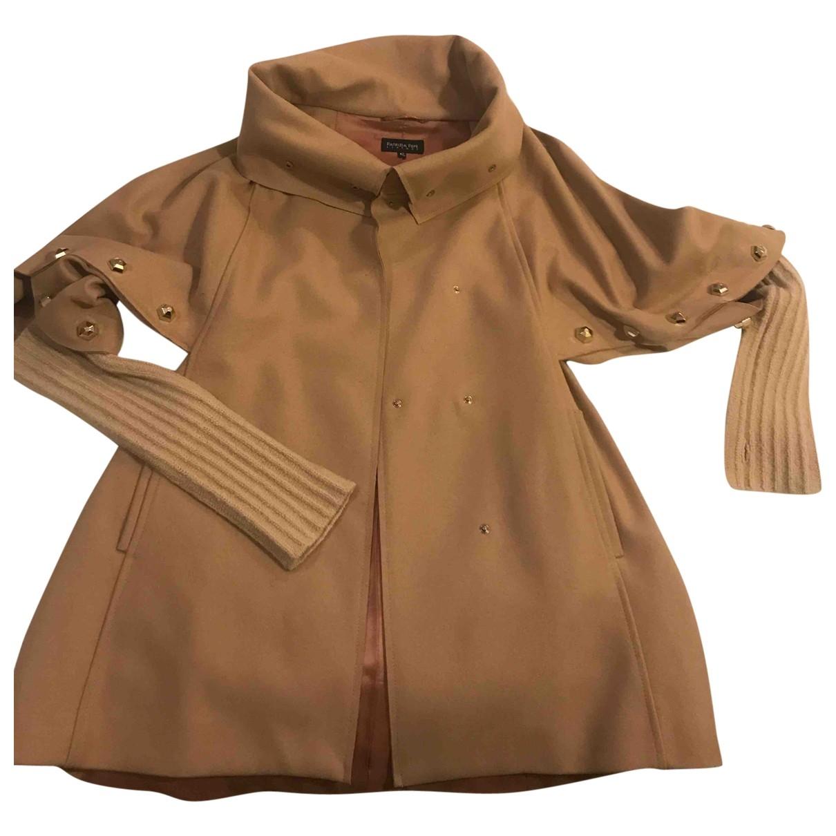 Patrizia Pepe \N Beige Wool coat for Women 42 IT