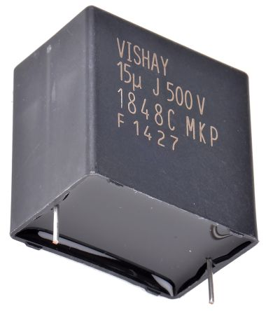 Vishay 15μF Polypropylene Capacitor PP 500V dc ±5% Tolerance Through Hole MKP1848C DC-Link Series