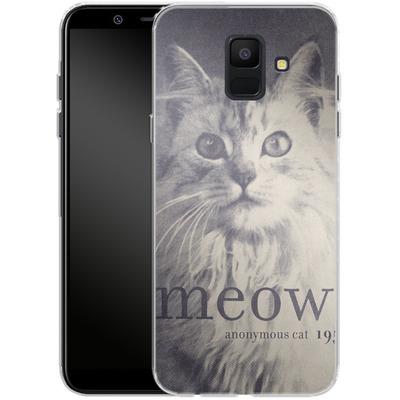 Samsung Galaxy A6 Silikon Handyhuelle - Famous Quote Cat von Florent Bodart
