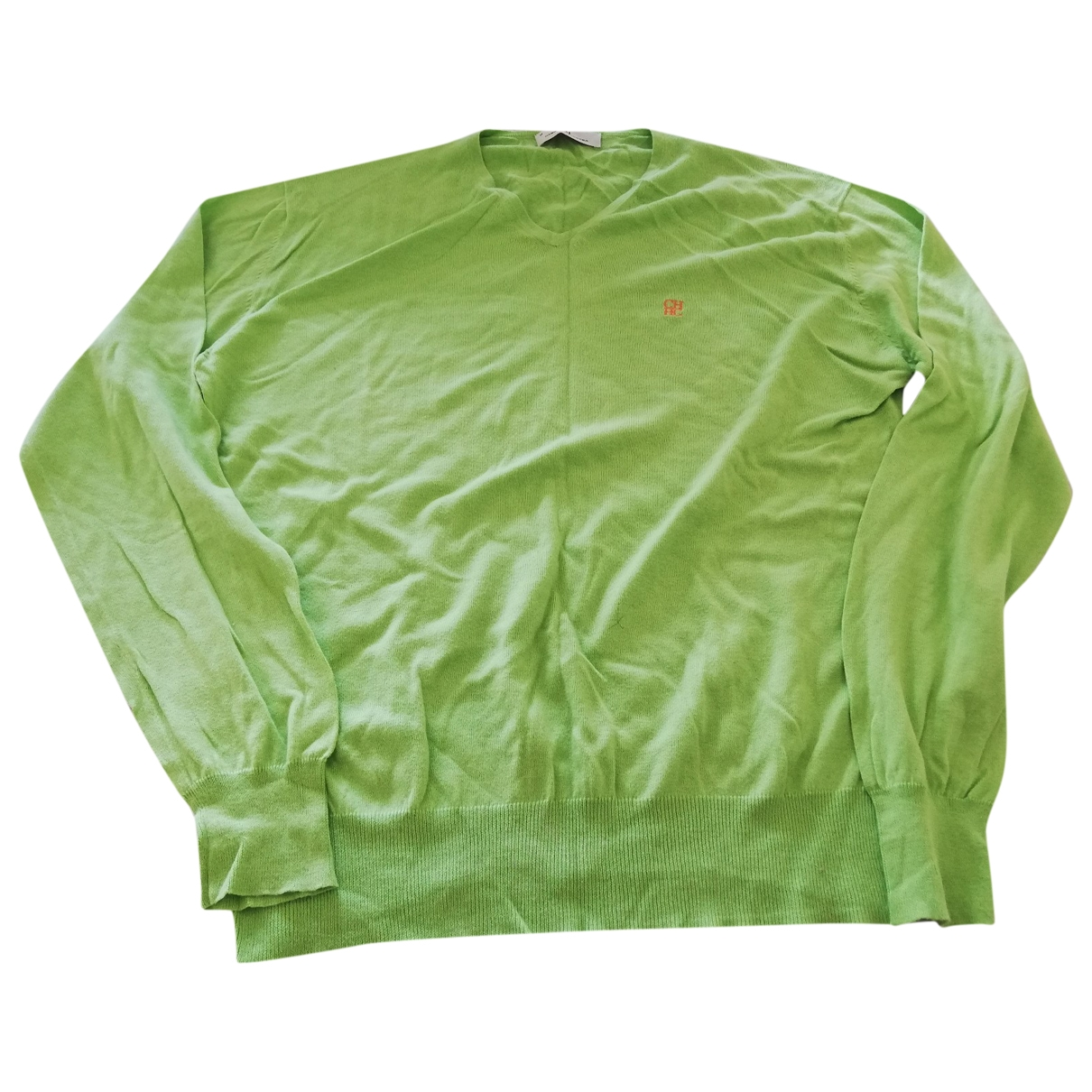 Carolina Herrera \N Pullover.Westen.Sweatshirts  in  Gruen Baumwolle