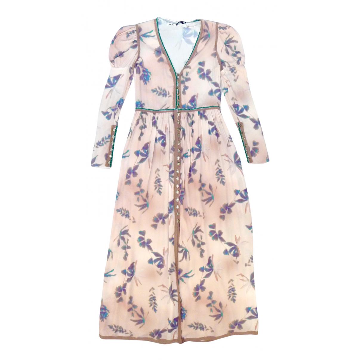 Zara \N Kleid in  Rosa Viskose