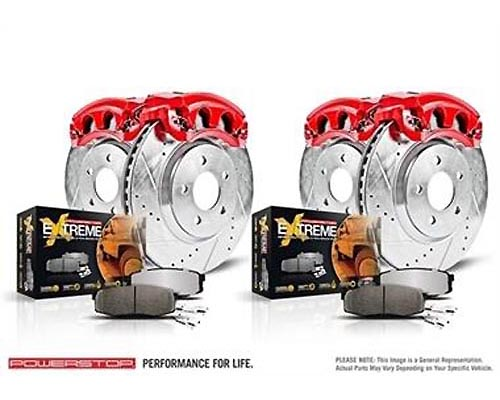Power Stop KC2813A-36 Z36 Extreme Performance Truck & Tow Brake Kit w/Calipers Front & Rear KC2813A-36