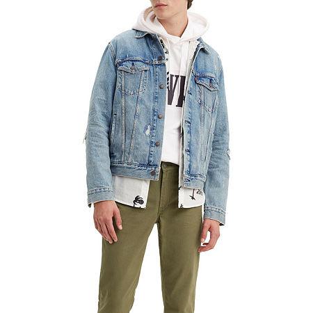 Levis Get Ripped Lightweight Denim Jacket, X-large , Blue
