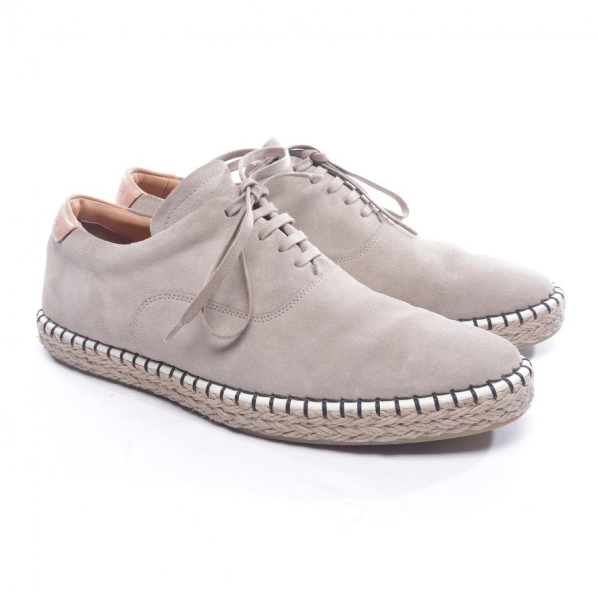 Louis Vuitton \N Sneakers in  Beige Veloursleder