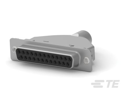 TE Connectivity 2.74 mm, 2.76 mm, 2.79 mm Pitch Crimp D-sub Connector, Socket, 25 Pin