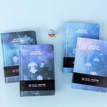 1pack Jellyfish Print Random Notebook