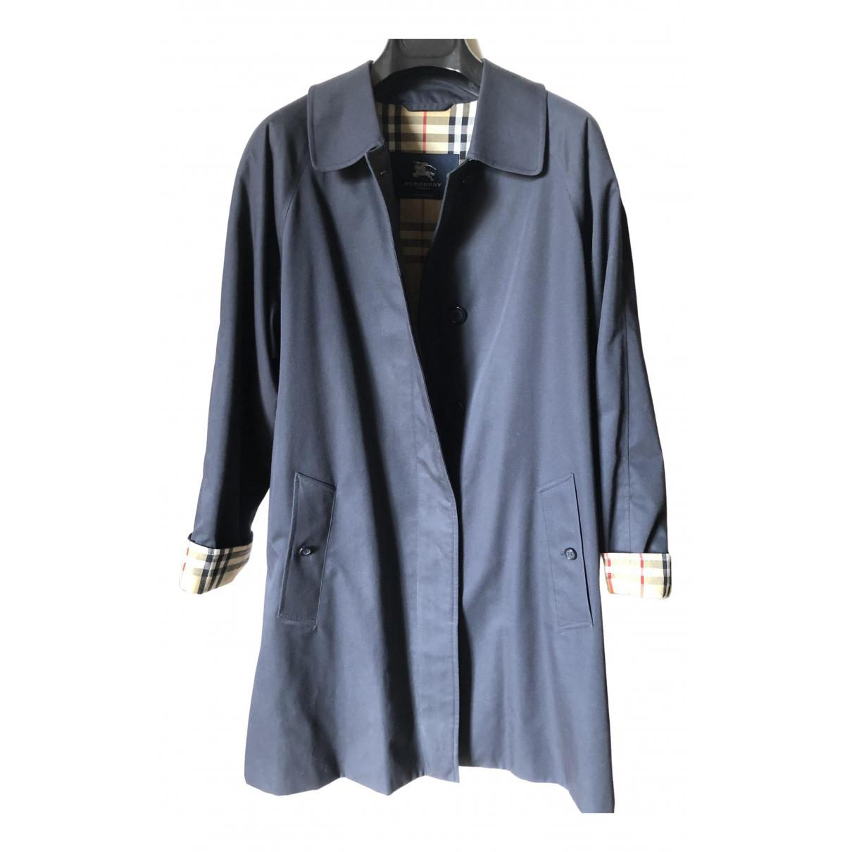 Burberry - Trench   pour femme en coton - bleu
