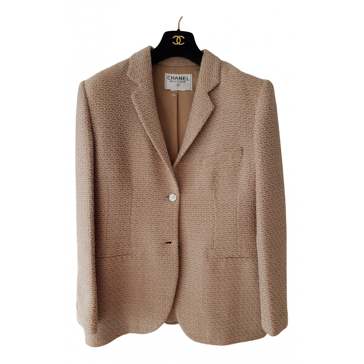 Chanel N Beige Wool jacket for Women M International
