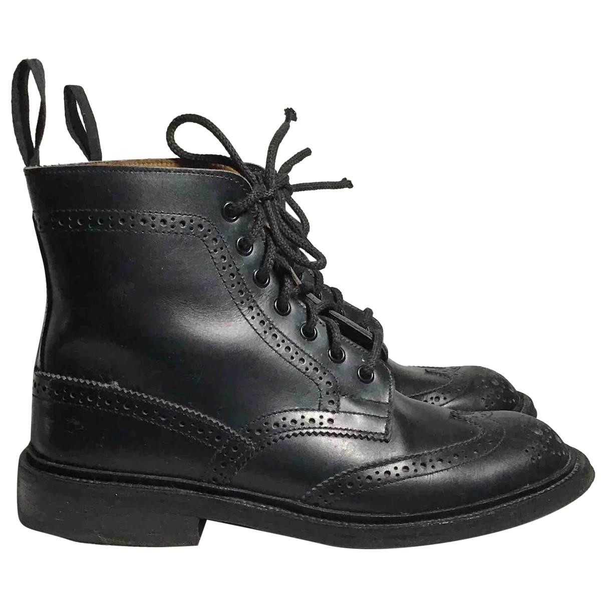 Trickers London \N Stiefel in  Schwarz Lackleder