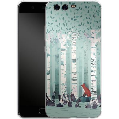 Huawei P10 Silikon Handyhuelle - Birches von Little Clyde