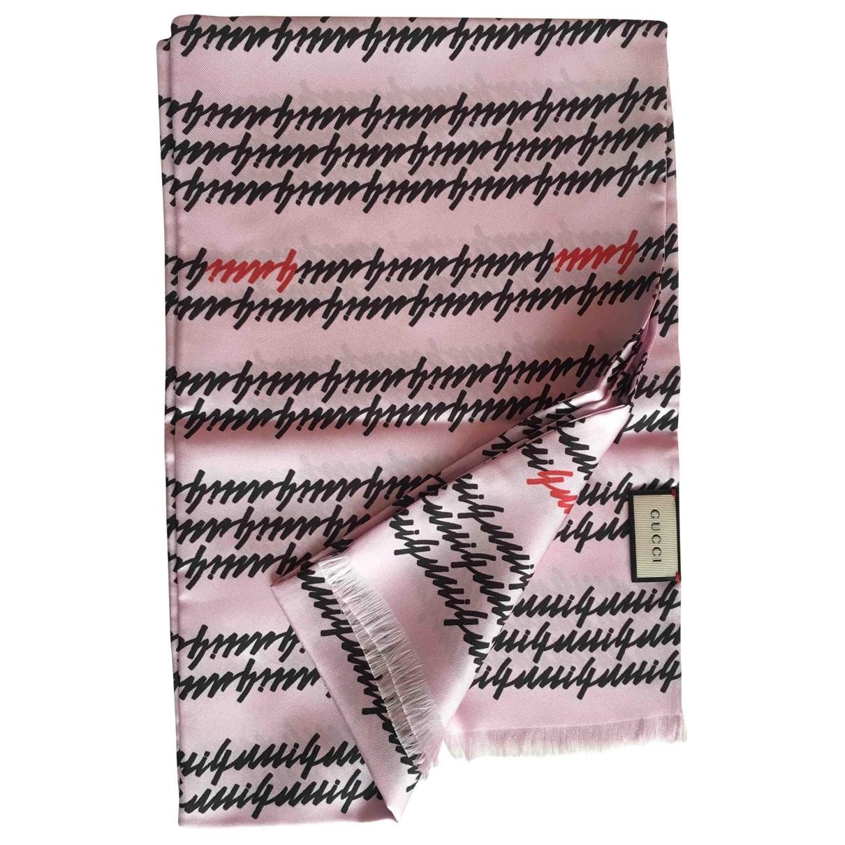 Gucci - Carre   pour femme en soie - violet