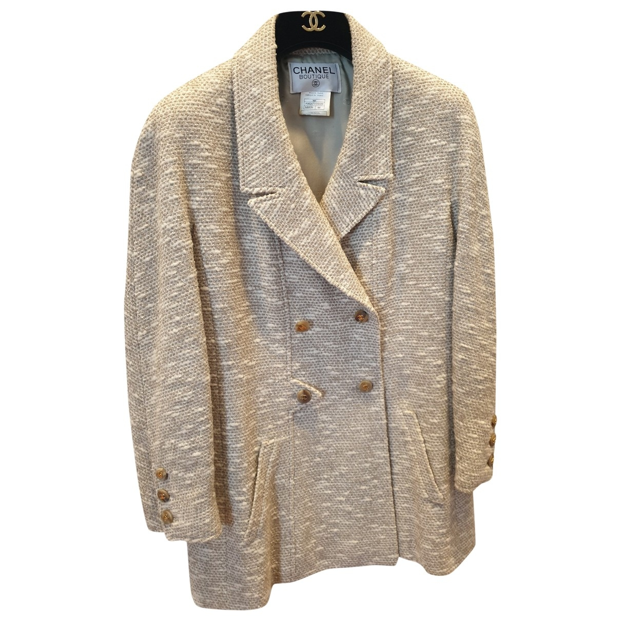 Chanel \N Ecru Wool jacket for Women 44 FR