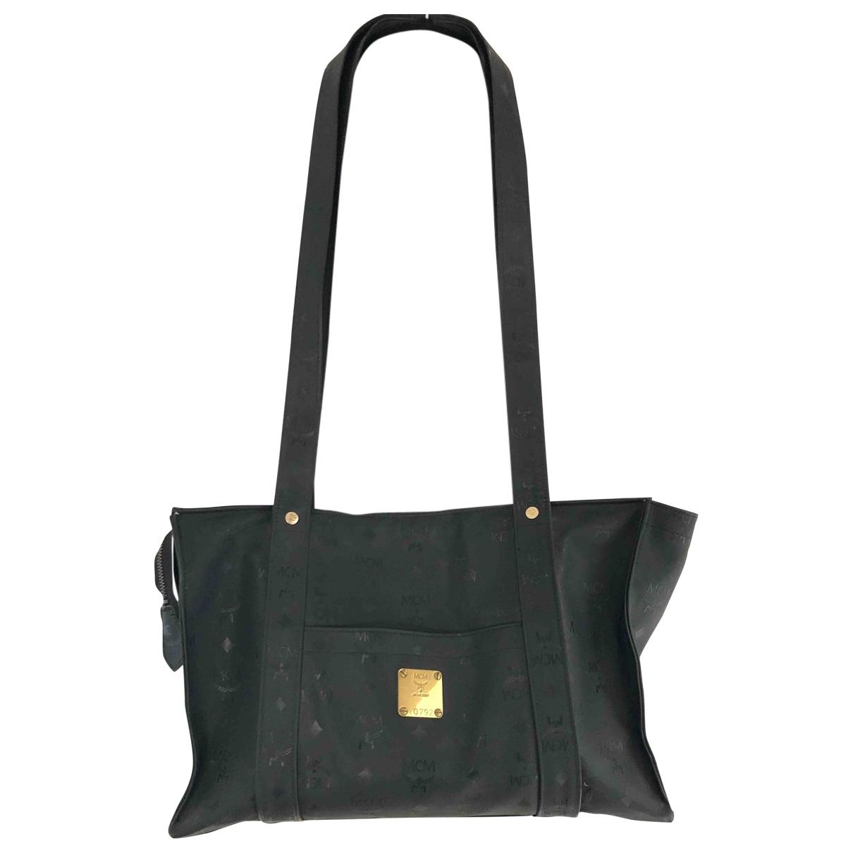 Mcm \N Handtasche in  Schwarz Leinen