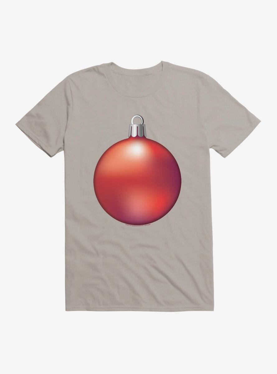 Emoji Holiday Icons Red Ornament T-Shirt
