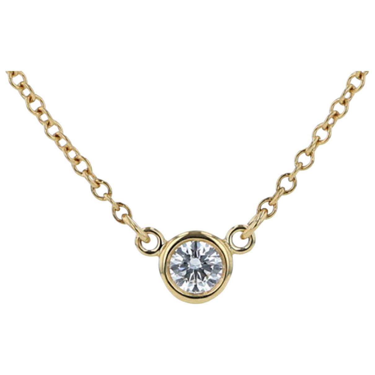 Tiffany & Co - Collier   pour femme en or jaune