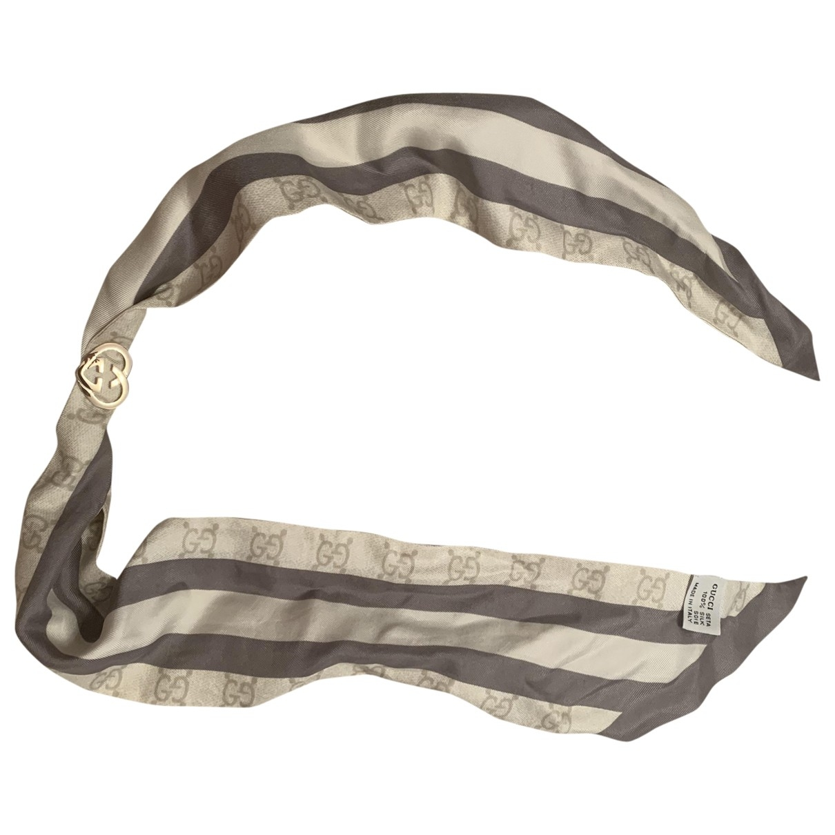 Gucci \N Ecru Silk scarf for Women \N