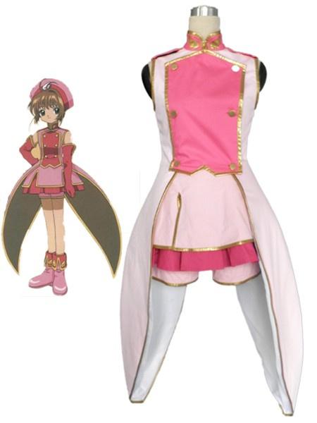 Milanoo Halloween Vestido de Sakura Kinomoto para cosplay de Cardcaptor Sakura