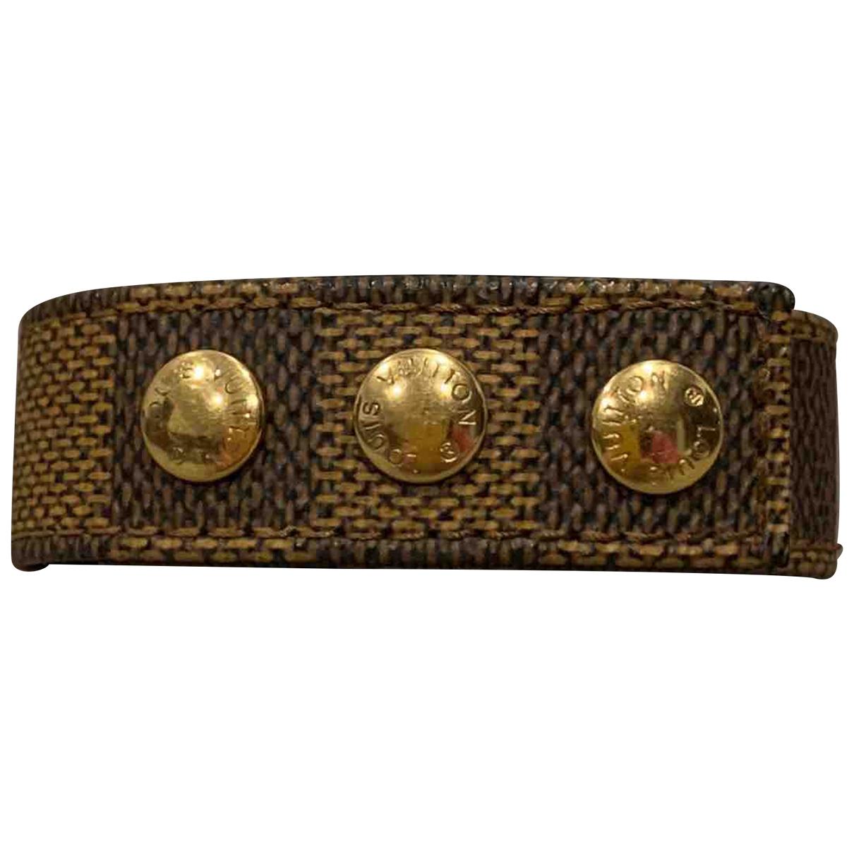 Louis Vuitton - Bracelet   pour femme en toile - dore