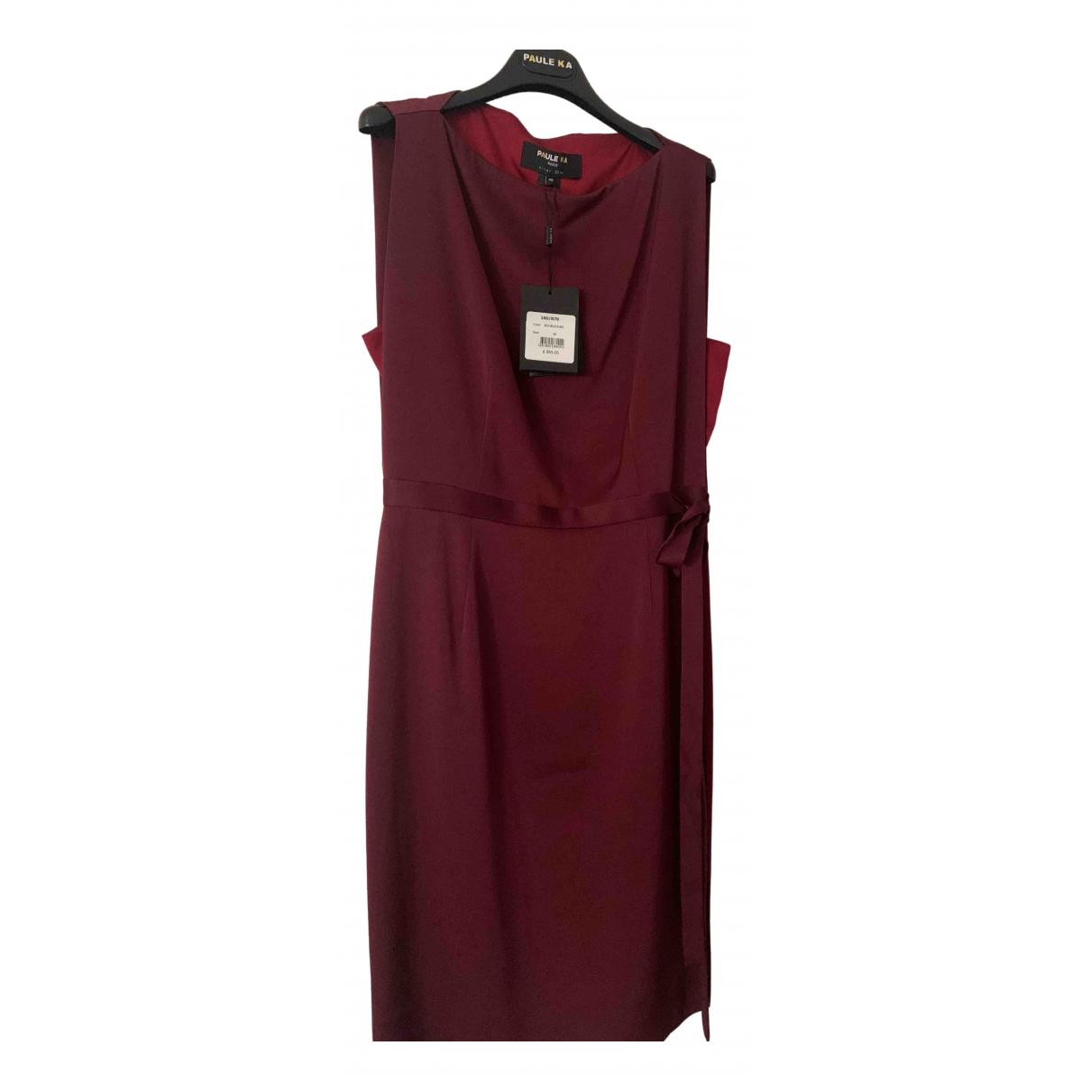 Paule Ka \N Red Silk dress for Women 40 FR