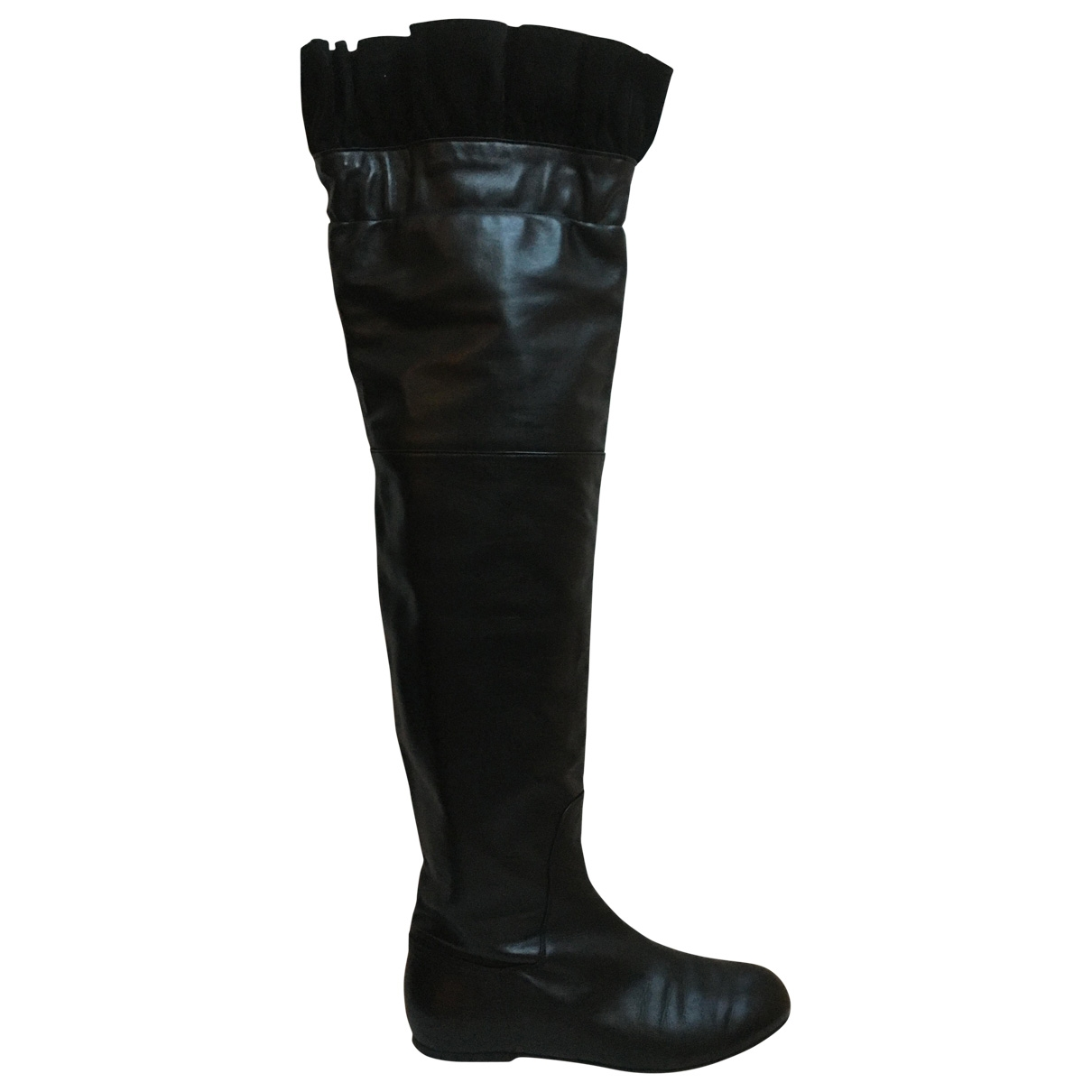Galliano \N Black Leather Boots for Women 39 EU