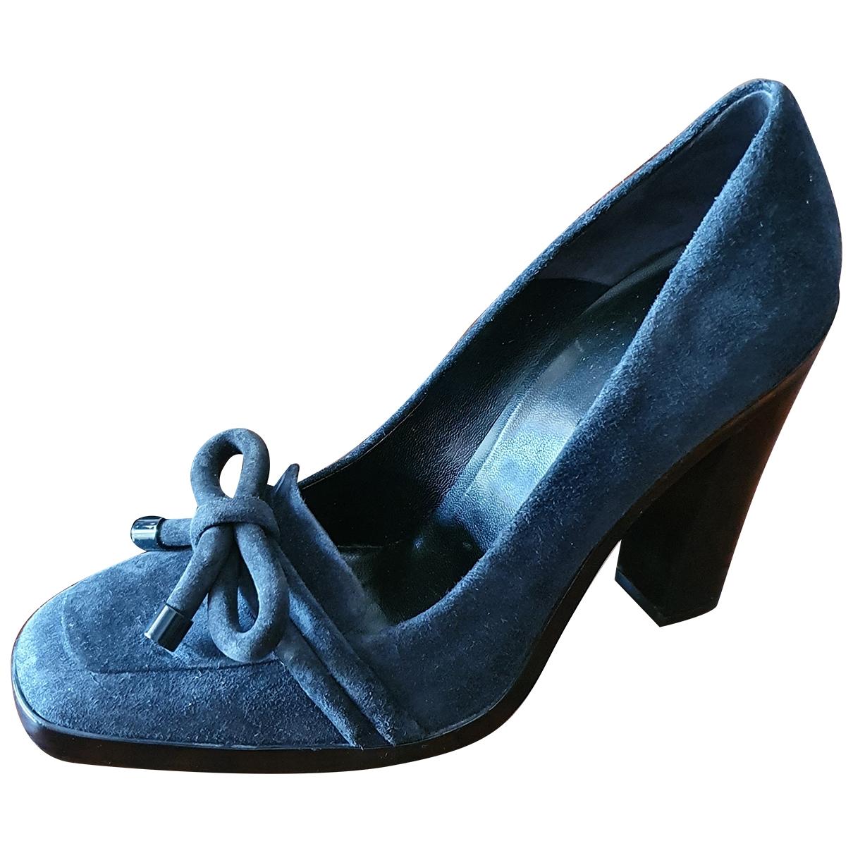 Balenciaga - Escarpins   pour femme en suede - bleu