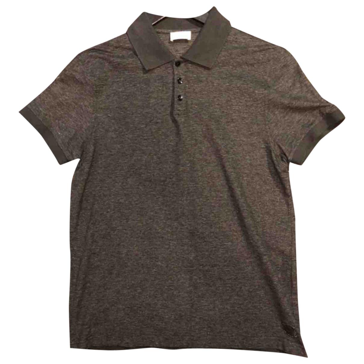 Saint Laurent - Polos   pour homme en coton - gris