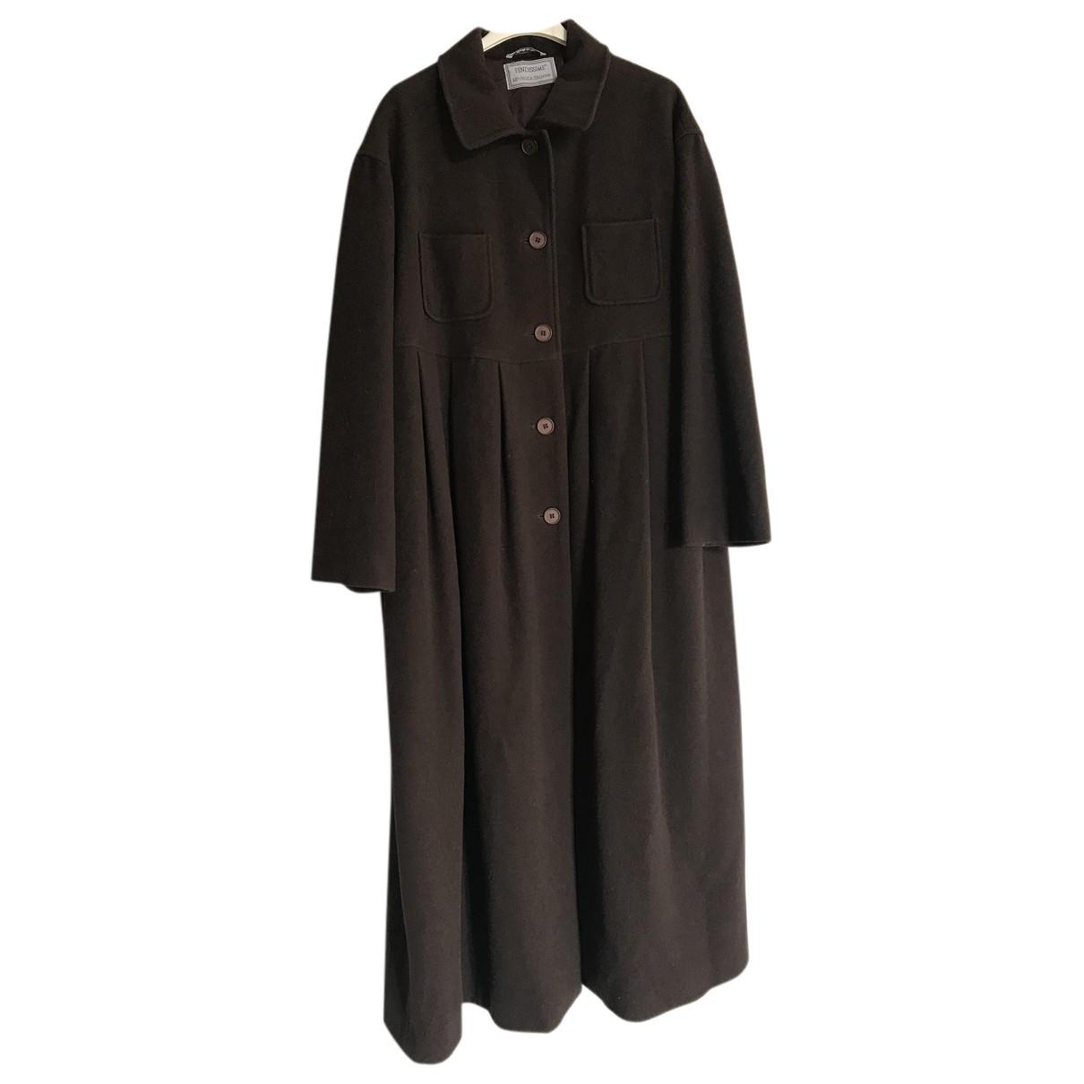 Fendissime - Manteau   pour femme en laine - marron